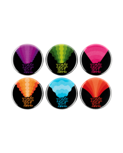 """Colors of Rock'N'Roll 1"""" Assorted Buttons 6pk"""